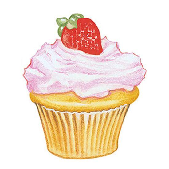 Aplique-Decoupage-8cm-Cupcake-Morango-APM8-389---Litoarte