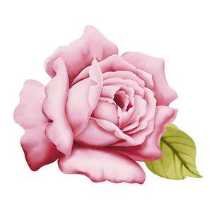Aplique-Decoupage-8cm-Flor-Rosa-APM8-526---Litoarte