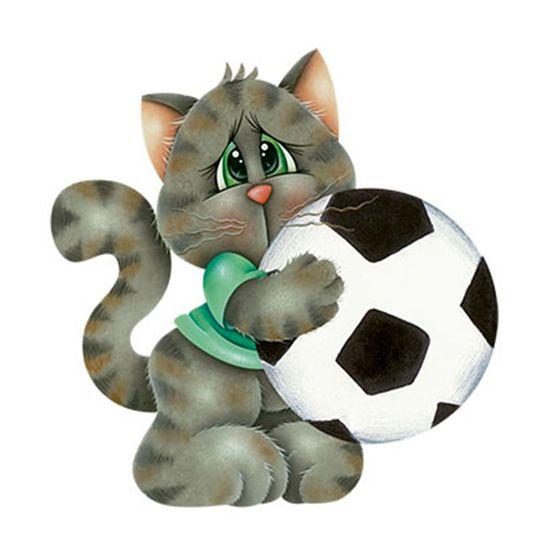 Aplique-Decoupage-8cm-Gato-com-Bola-de-Futebol-APM8-691---Litoarte