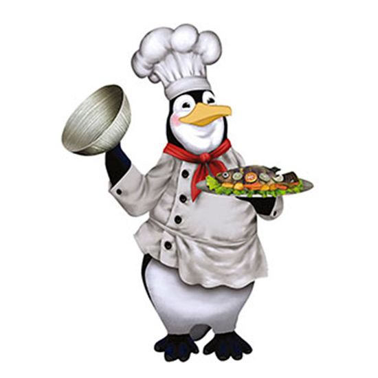 Aplique-Decoupage-8cm-Pinguim-Cozinheiro-APM8-392---Litoarte