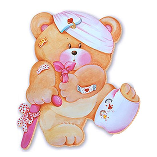 Aplique-Decoupage-8cm-Ursa-Dodoi-APM8-376---Litoarte