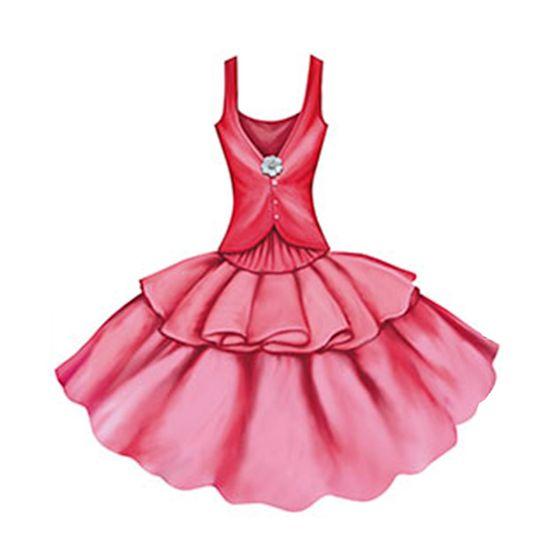 Aplique-Decoupage-8cm-Vestido-Rosa-APM8-396---Litoarte