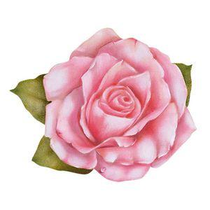 Aplique-Decoupage-8cm-Flor-Rosa-APM8-781---Litoarte