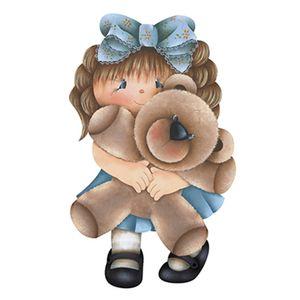 Aplique-Decoupage-8cm-Menina-com-Urso-APM8-581---Litoarte