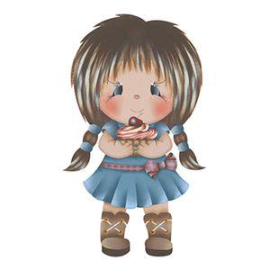 Aplique-Decoupage-8cm-Menina-com-Cupcake-APM8-580---Litoarte