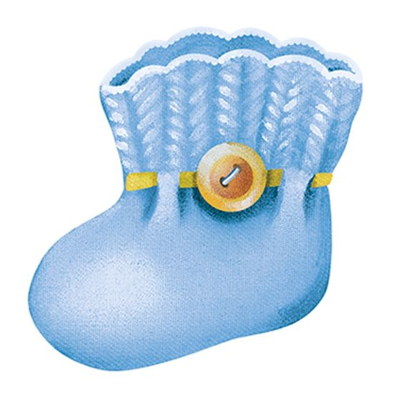 Aplique-Decoupage-8cm-Sapatinho-Azul-APM8-574---Litoarte