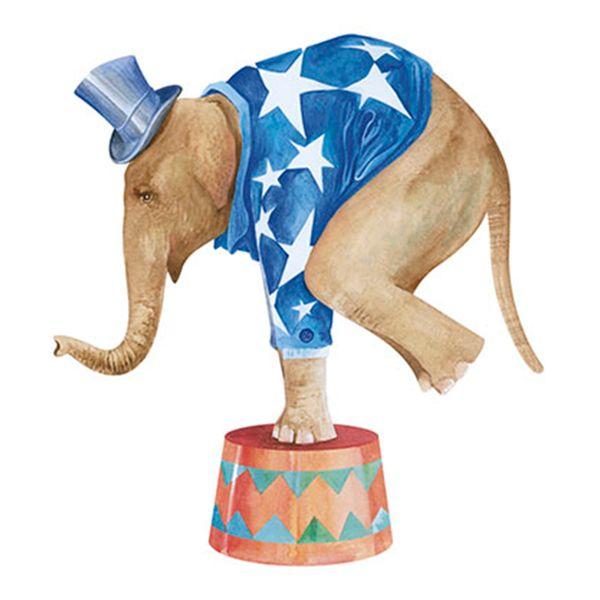 Aplique-Decoupage-8cm-Elefante-de-Circo-APM8-545--Litoarte