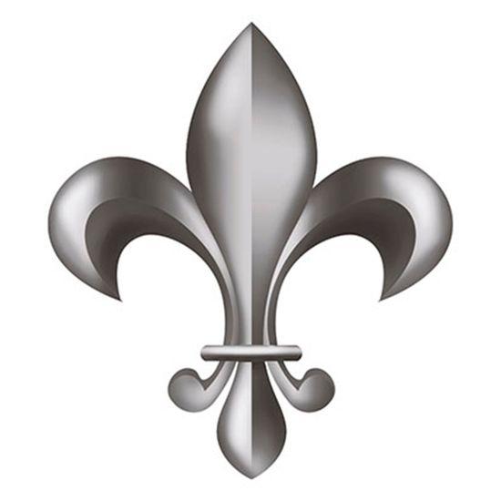 Aplique-Decoupage-8cm-Flor-de-Lis-Prata-APM8-520---Litoarte