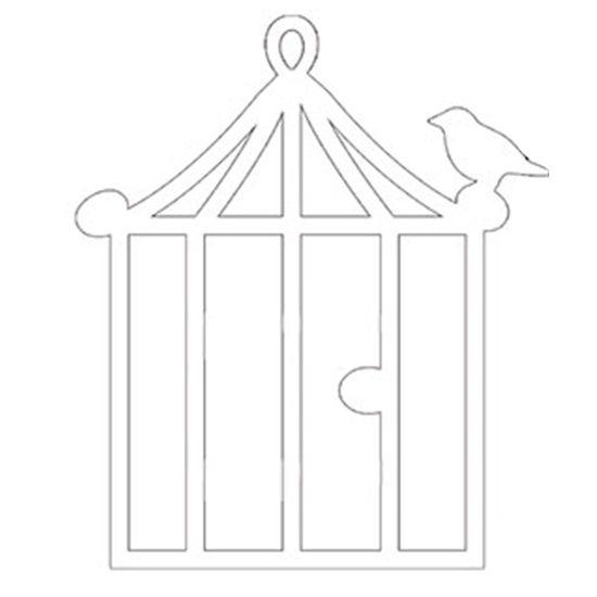 Aplique-Decoupage-8cm-Gaiola-Quadrada-Branca-APM8-416---Litoarte