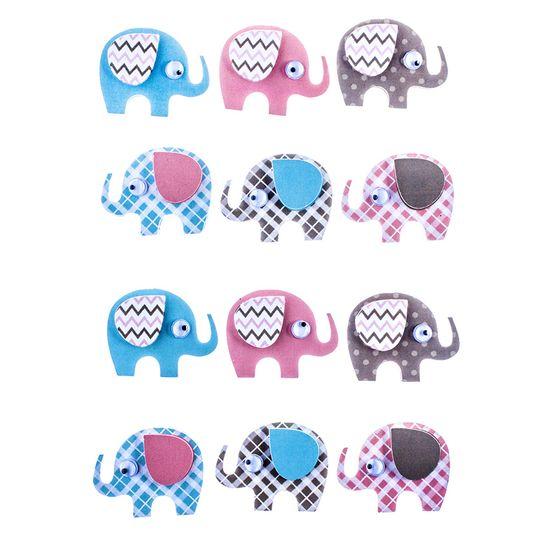 Adesivo-Elegante-Elefantes-3D-com-Glitter-AD1828---Toke-e-Crie