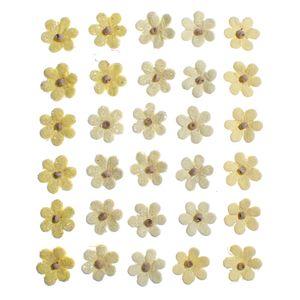 Flores-Artesanais-Aquileia-Amarela-Colecao-Algodao-Doce-FLOR136---Toke-e-Crie