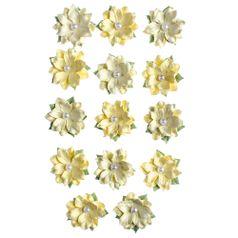 Flores-Artesanais-Daphne-Amarelo-Colecao-Algodao-Doce-FLOR148---Toke-e-Crie