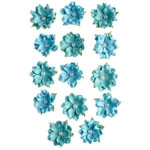 Flores-Artesanais-Daphne-Azul-Colecao-Algodao-Doce-FLOR149---Toke-e-Crie