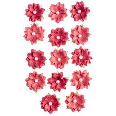 Flores-Artesanais-Daphne-Vermelho-Colecao-Algodao-Doce-FLOR153---Toke-e-Crie