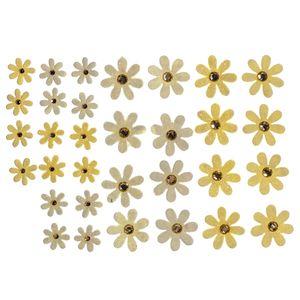 Flores-Artesanais-Margaridas-Amarelas-Colecao-Algodao-Doce-FLOR142---Toke-e-Crie