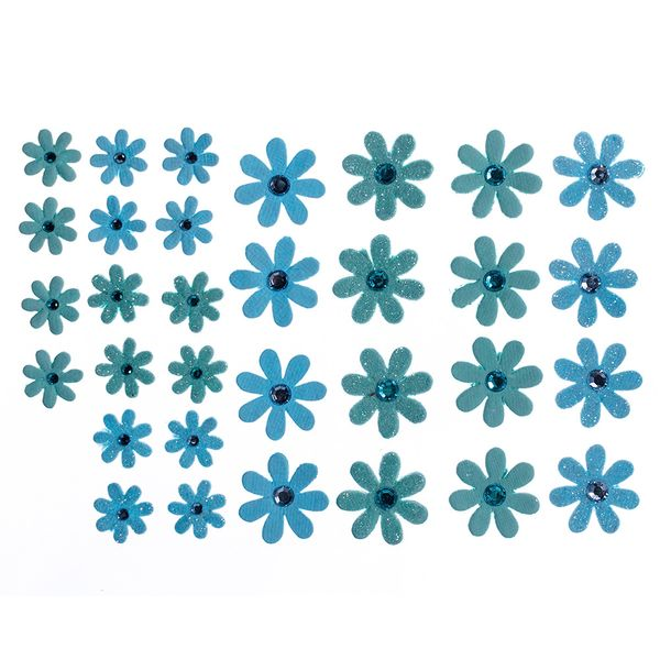 Flores-Artesanais-Margaridas-Azuis-Colecao-Algodao-Doce-FLOR143---Toke-e-Crie