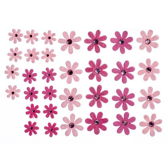 Flores-Artesanais-Margaridas-Rosas-Colecao-Algodao-Doce-FLOR145---Toke-e-Crie