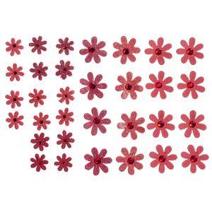 Flores-Artesanais-Margaridas-Vermelhas-Colecao-Algodao-Doce-FLOR147---Toke-e-Crie