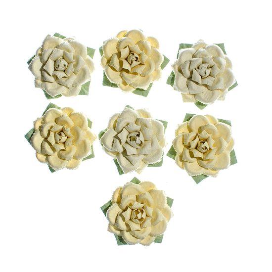 Flores-Artesanais-Rosas-Amarelas-Colecao-Algodao-Doce-FLOR154---Toke-e-Crie