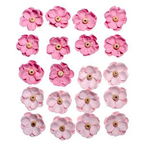 Flores-Artesanais-Sininhos-Rosa-Colecao-Algodao-Doce-FLOR133---Toke-e-Crie