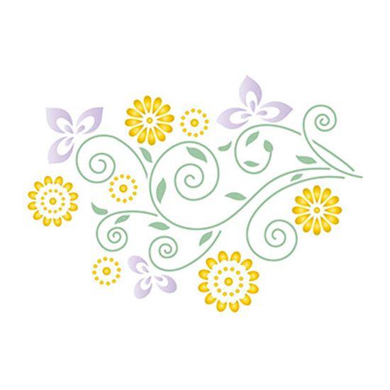 Stencil-Retangular-Flores-21x344-ST-018---Litoarte
