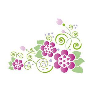 Stencil-Retangular-Flores-21x344-ST-019---Litoarte