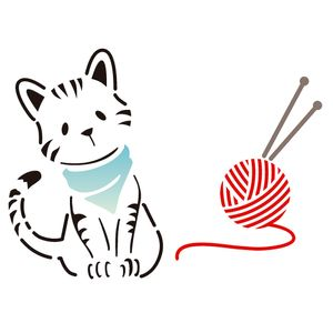 Estencil-para-Pintura-Simples-15x20-Pet-Gato-OPA2170---Opa