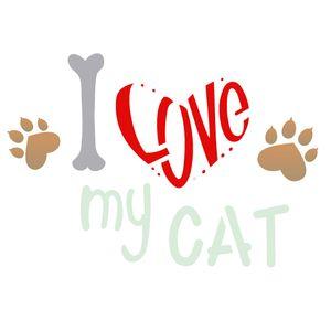 Estencil-para-Pintura-Simples-15x20-Pet-I-Love-My-Cat-OPA2209---Opa