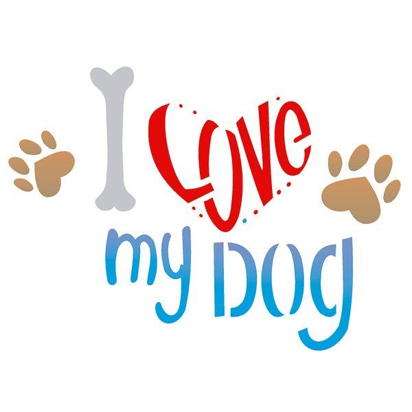 Estencil-para-Pintura-Simples-15x20-Pet-I-Love-My-Dog-OPA2171--Opa
