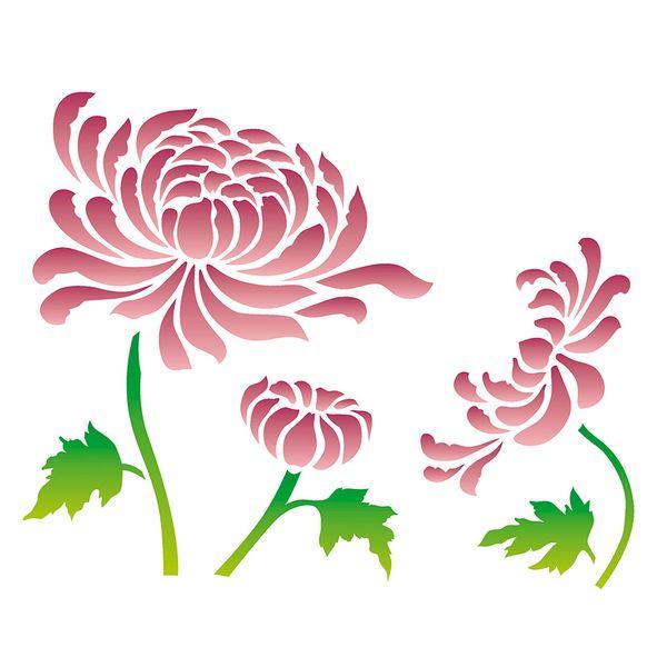 Estencil-para-Pintura-Simples-20x25-Flor-Crisantemo-OPA2182---Opa
