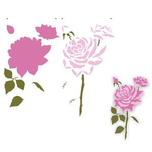 Estencil-para-Pintura-Simples-305x305-Flor-Rosas-OPA2205---Opa