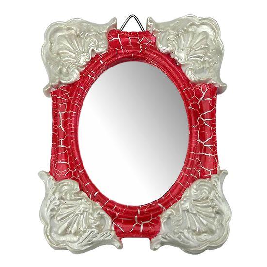 Moldura-Colonial-Cantoneira-e-Oval-com-Espelho-Vermelho-e-Branco-Craquele-10x13cm---Resina