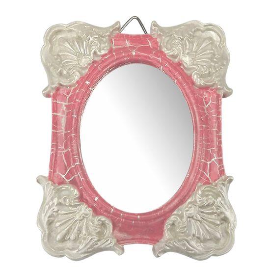 Moldura-Colonial-Cantoneira-e-Oval-com-Espelho-Rosa-e-Branco-Craquele-10x13cm---Resina