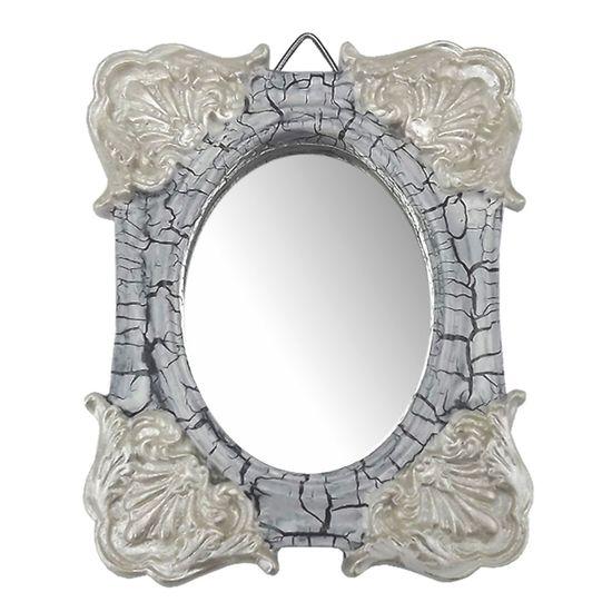 Moldura-Colonial-Cantoneira-e-Oval-com-Espelho-Branco-e-Cinza-Craquele-10x13cm---Resina