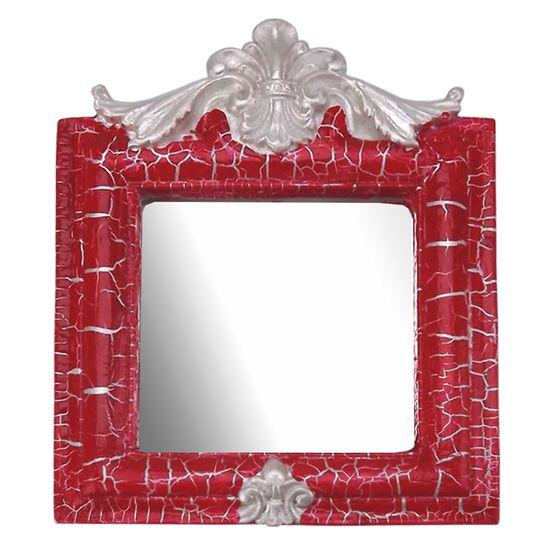 Moldura-Provencal-Retrato-Cantoneira-com-Espelho-Vermelho-e-Branco-Craquele-135x11cm---Resina