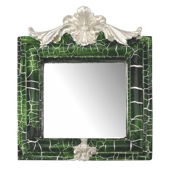 Moldura-Provencal-Retrato-Cantoneira-com-Espelho-Verde-e-Branco-Craquele-135x11cm---Resina
