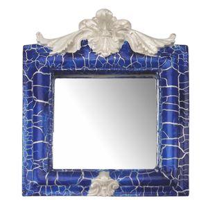 Moldura-Provencal-Retrato-Cantoneira-com-Espelho-Azul-e-Branco-Craquele-135x11cm---Resina