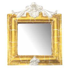 Moldura-Provencal-Retrato-Cantoneira-com-Espelho-Dourado-e-Branco-Craquele-135x11cm---Resina