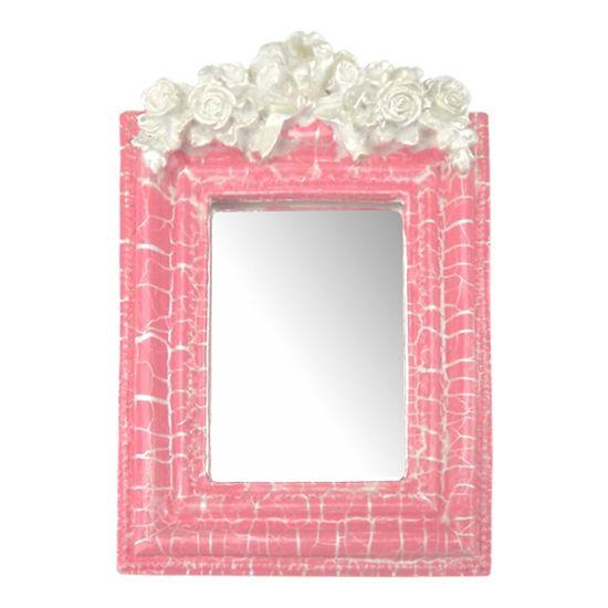 Moldura-Provencal-Retangular-Rosas-com-Laco-com-Espelho-Rosa-e-Branco-Craquele-135x92cm---Resina