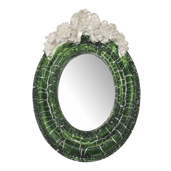 Moldura-Provencal-Oval-Rosas-com-Laco-com-Espelho-Verde-e-Branco-Craquele-95x14cm---Resina