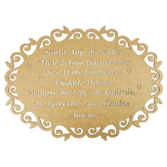 Moldura-em-MDF-Oval-Oracao-Santo-Anjo-do-Senhor-40x29cm-Arabesco---Palacio-da-Arte