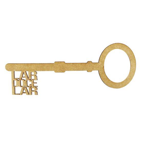 Aplique-Chave-Lar-Doce-Lar-em-MDF-10x4cm---Palacio-da-Arte