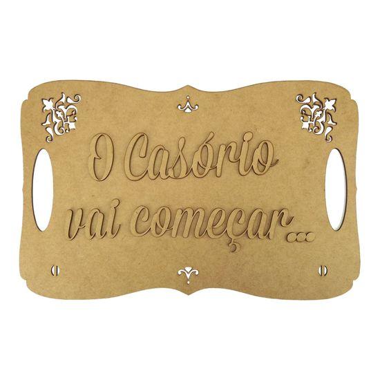 Placa-Decorativa-em-MDF-O-Casorio-Vai-Comecar...-35x225cm---Palacio-da-Arte