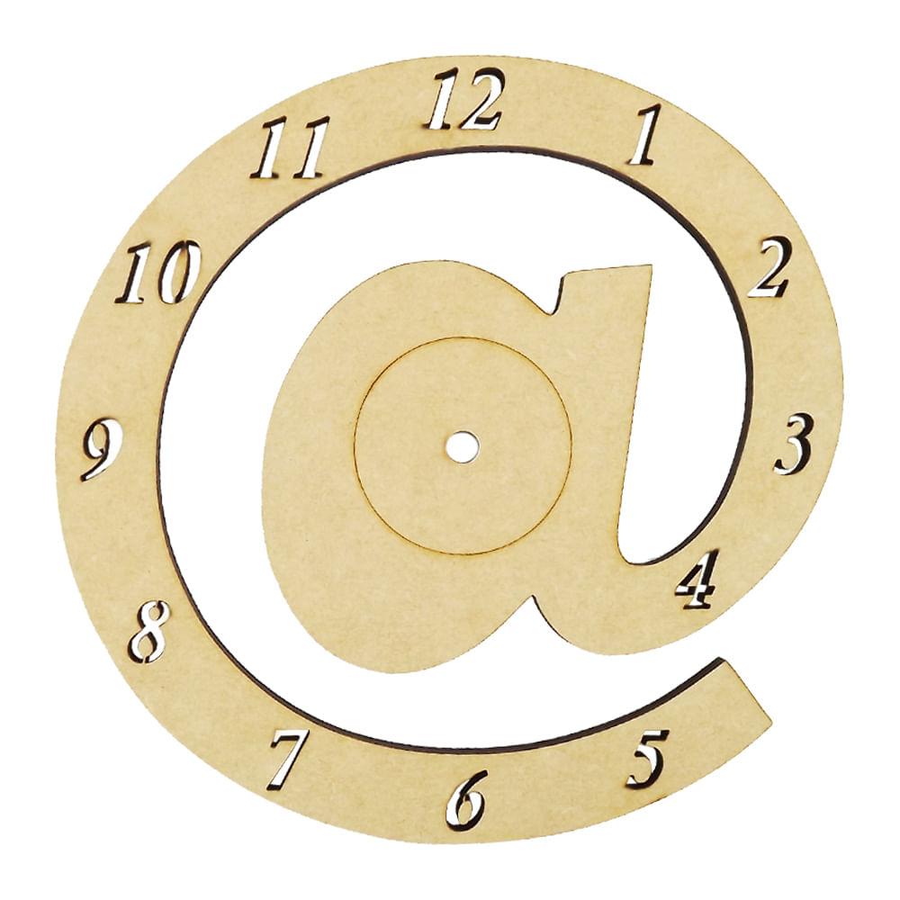 0d112eec44c Relógio de Parede Arroba   em MDF 21cm - Palácio da Arte - PalacioDaArte
