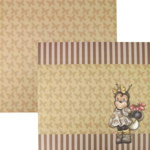 Papel-Scrapbook-Dupla-Face-305x305cm-Abelha-e-Listras-LSCD-092---Litocart