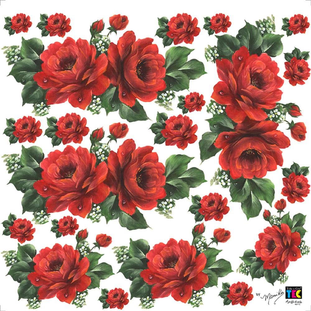 f4b9faf0c Adesivo Decorativo Rosas Vermelhas TDM-05 - Toke e Crie by Mamiko -  PalacioDaArte