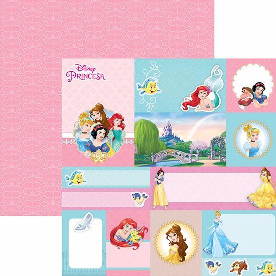 Papel-Scrapbook-Dupla-Face-305x305cm-Princesas-2-Tags-SDFD-056---Toke-e-Crie