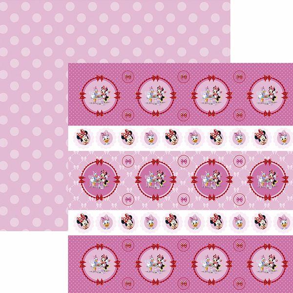 Papel-Scrapbook-Dupla-Face-305x305cm-Hora-do-Cha-com-a-Minnie-1-Forminhas-e-Toppers-SDFD-127---Toke-e-Crie