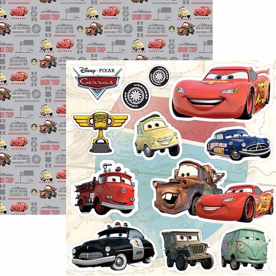 Papel-Scrapbook-Dupla-Face-305x305cm-Carros-2-Recortes-SDFD-092---Toke-e-Crie