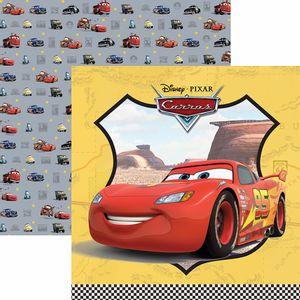 Papel-Scrapbook-Dupla-Face-305x305cm-Carros-1-Guirlanda-SDFD-111---Toke-e-Crie